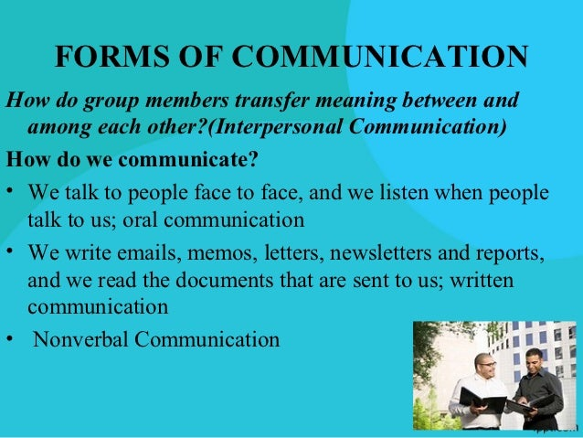 Communication in Teamwork