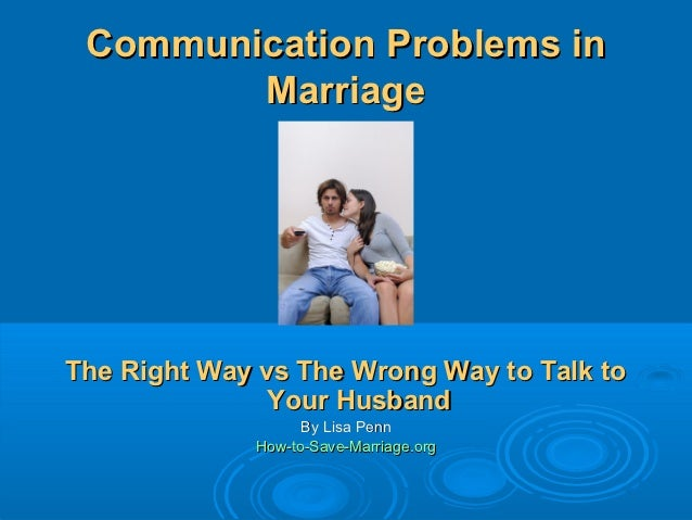 Communication problems in marriage