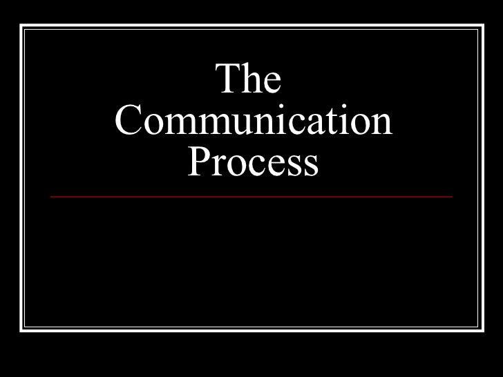 Communication process (1)