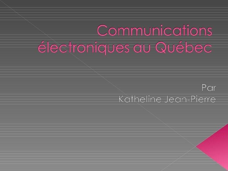 Communications Électroniques Effectives :: communication et communautés