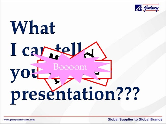 What I can tell Boooom you in this presentation???