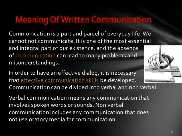 the importance of written communication Well the reason that paralanguage is important to written communication is that it is absent in written communication paralanguage is all that nonverbal stuff that happens when you speak the thing is, in conversation a.