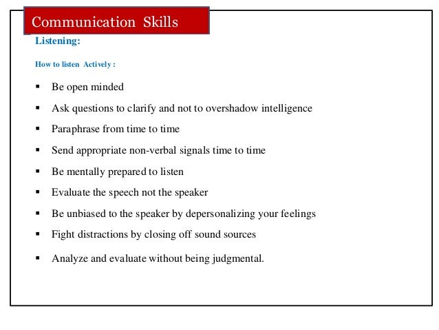 a project report on communication skill