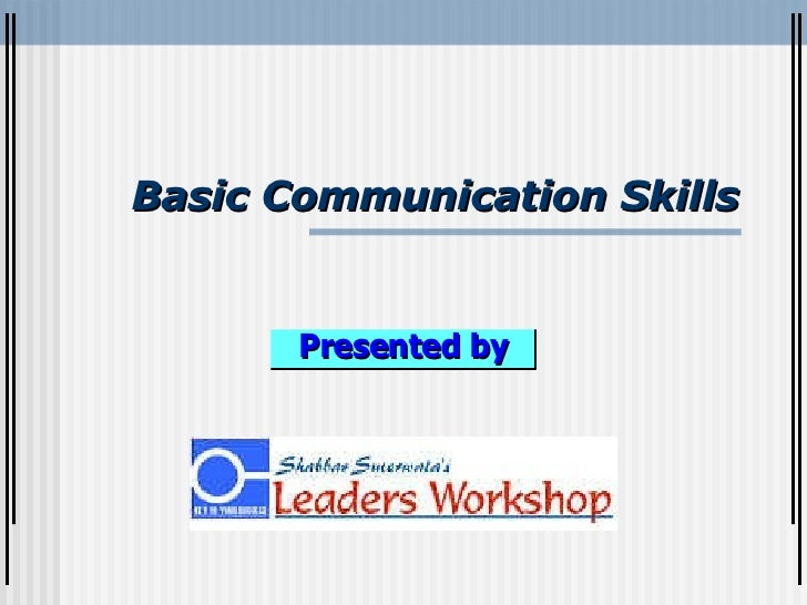 Communication Skills By Shabbar Suterwala