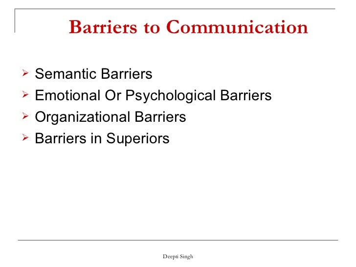 pshychological barriers in communication Important socio-psychological barriers to communication are as follows: communication to be effective should be free of barriers which obstruct the free flow of communication.