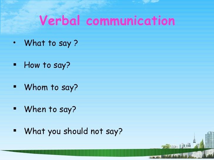 Verbal communication training ppt