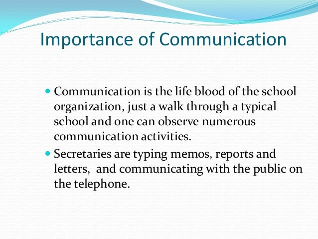 the importance of communication in the