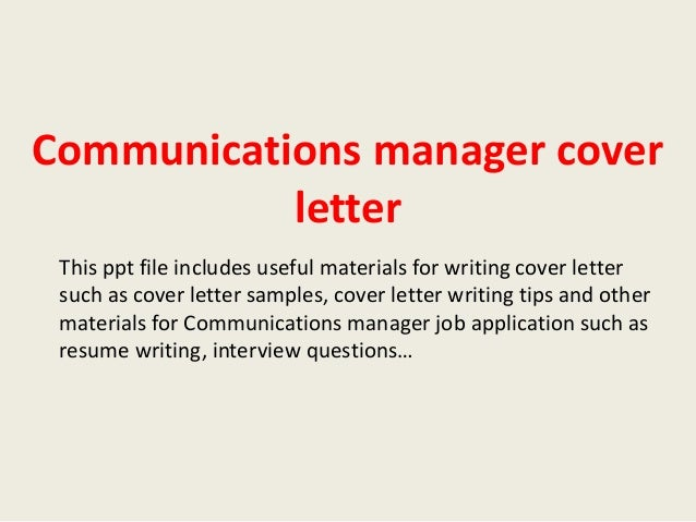 Community Marketing Manager Cover Letter