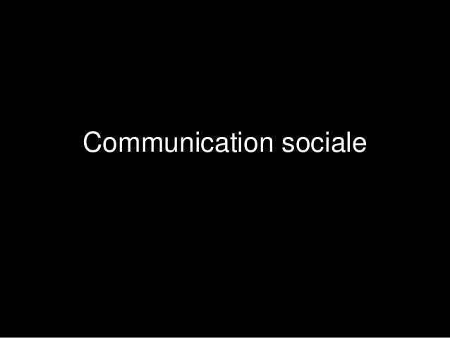 Communication sociale