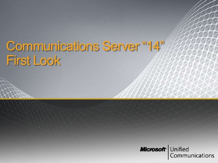 "Communications Server ""14"" First Look<br />"