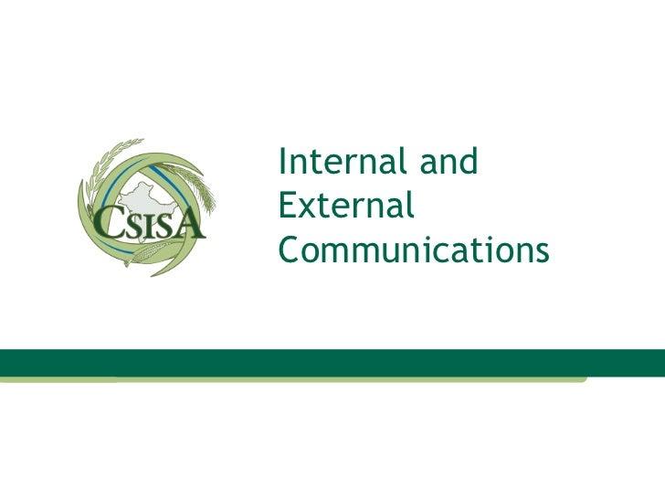 Internal and External Communications
