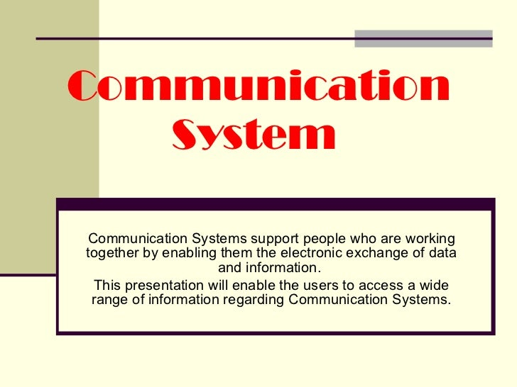 HSC Communication systems