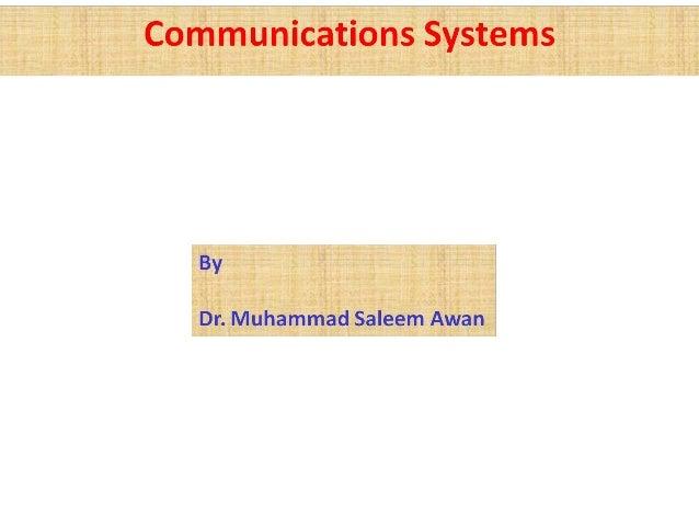 Communication systems v7