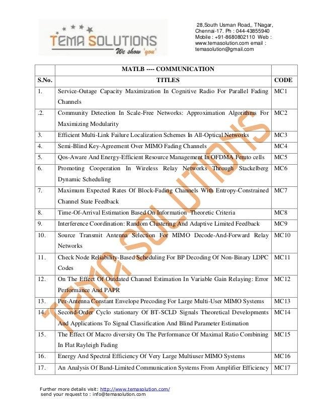 28,South Usman Road,, TNagar, Chennai-17. Ph : 044-43855940 Mobile : +91-8680802110 Web : www.temasolution.com email : tem...