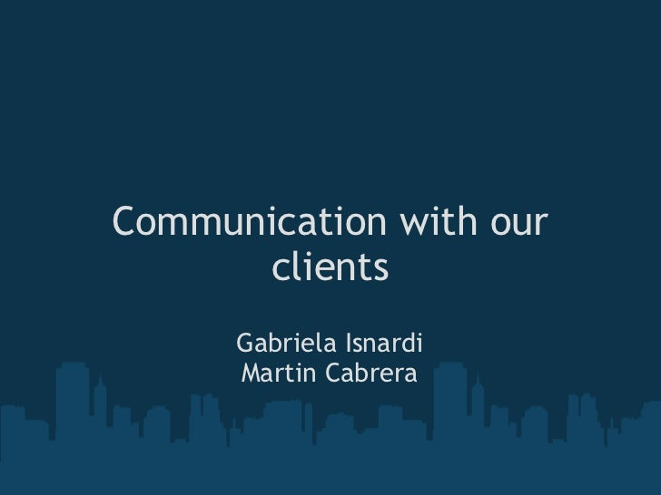 Communication with our_clients