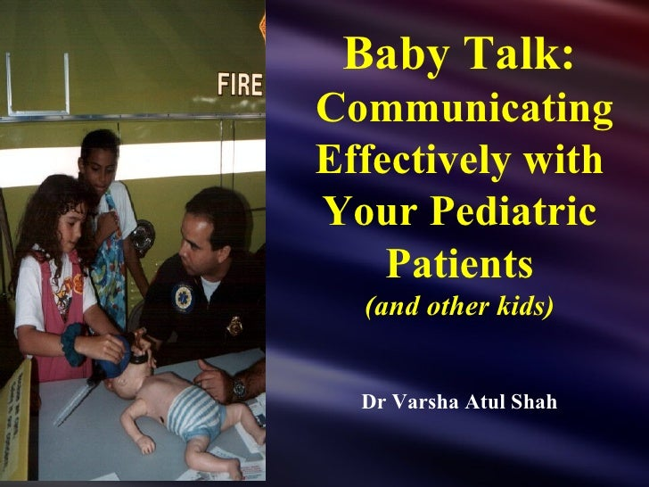 Communication with paediatric patients for medical students