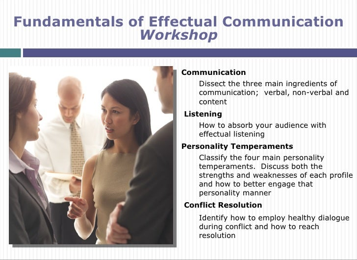 Fundamentals of Effectual Communication