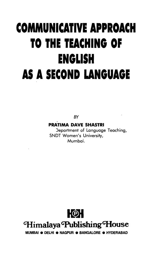 Teaching english as a second language essay
