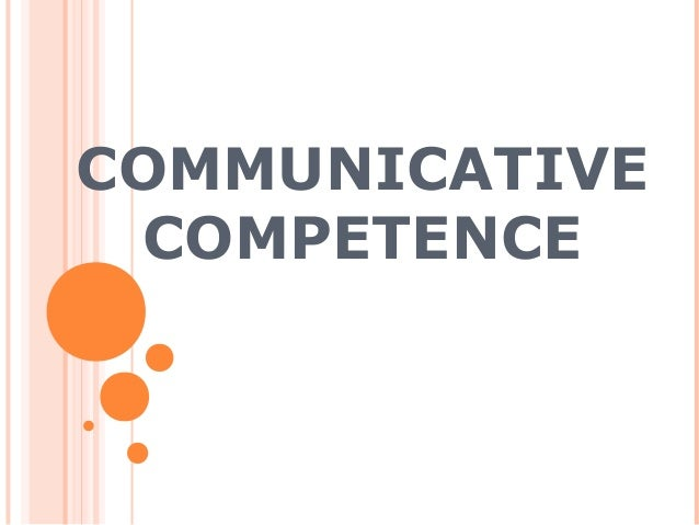 Communicative competences