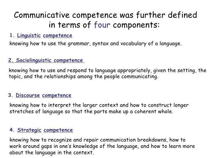 essay on communicative competence spanish grammar