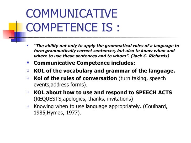 communicative competence in english language