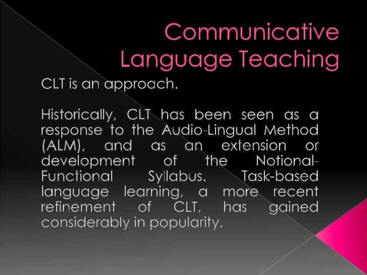  SURVEY for a 5th grade class This activity represents the CLT method  because the speaking skill is applied  althogh th...