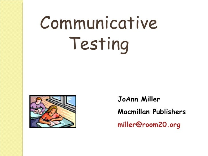 Communicative testing written and oral-cccn--wb