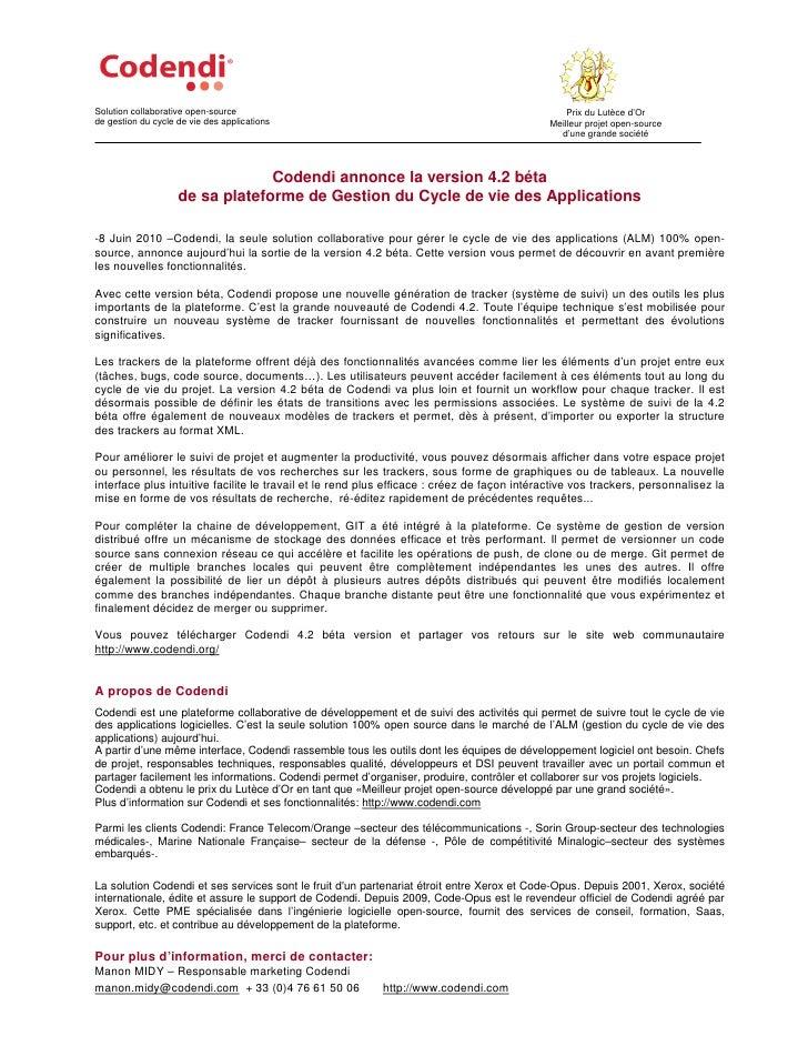 Solution collaborative open-source                                                               Prix du Lutèce d'Or de ge...