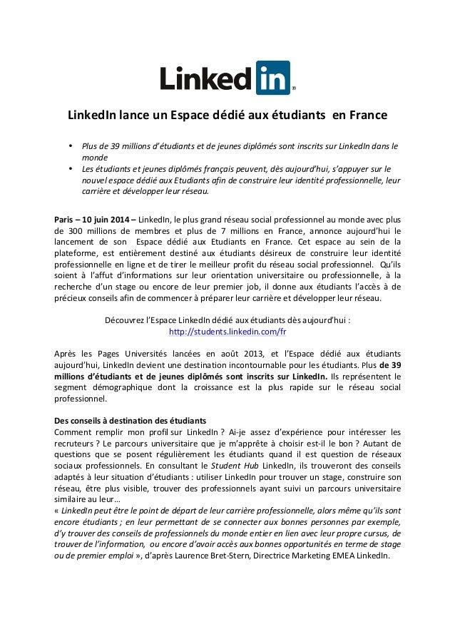 LinkedIn  lance  un  Espace  dédié  aux  étudiants    en  France      • Plus  de  39  millio...