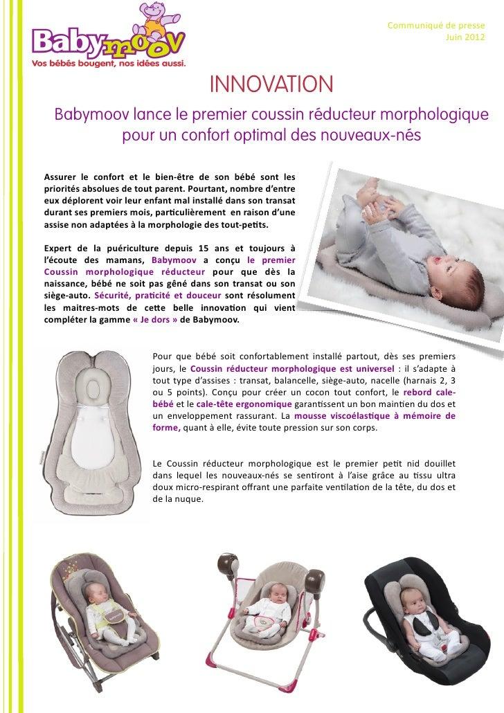 Communiqué de presse - Coussin réducteur morphologique