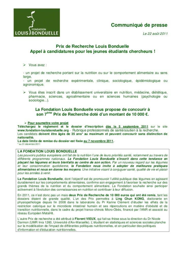 Communique prix-de-recherche-louis-bonduelle-aout-2011-flb