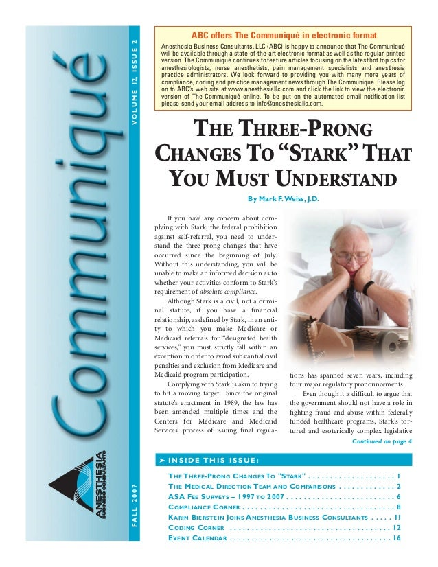 CommNEWS_fall07.qxd:CommNEWS_Winter04.hls 10/8/07 12:08 PM Page 1 ANESTHESIAANESTHESIA BUSINESSCONSULTANTBUSINESSCONSULTAN...