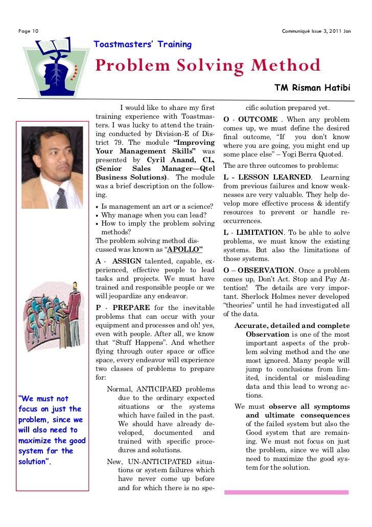 Page 10                                                                          Communiqué Issue 3, 2011 Jan             ...