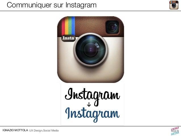 Communiquer sur Instagram  IGNAZIO MOTTOLA UX Design,Social Media