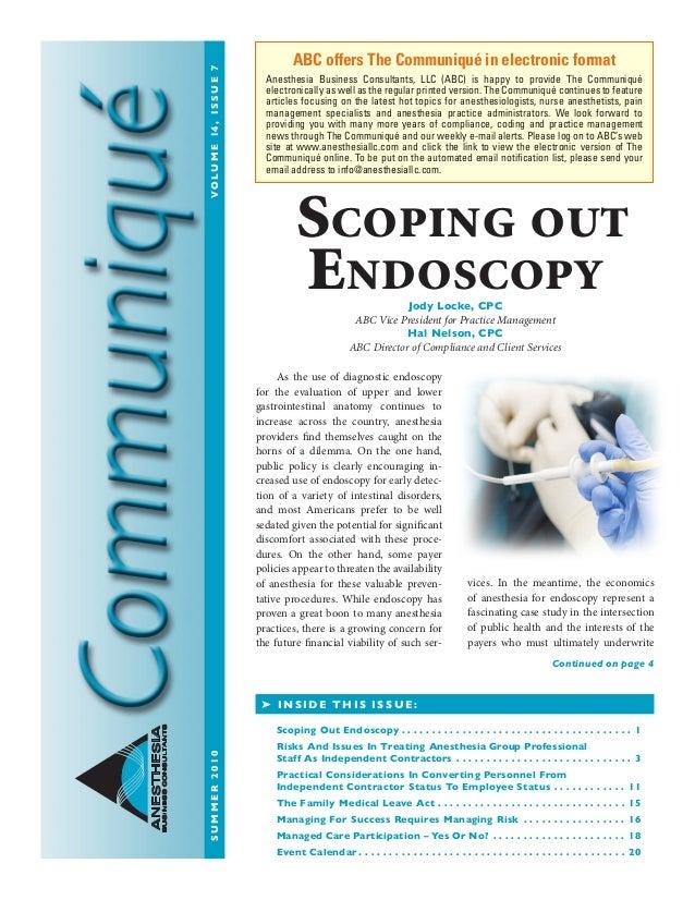 Anesthesia Business Consultants: Communique summer10