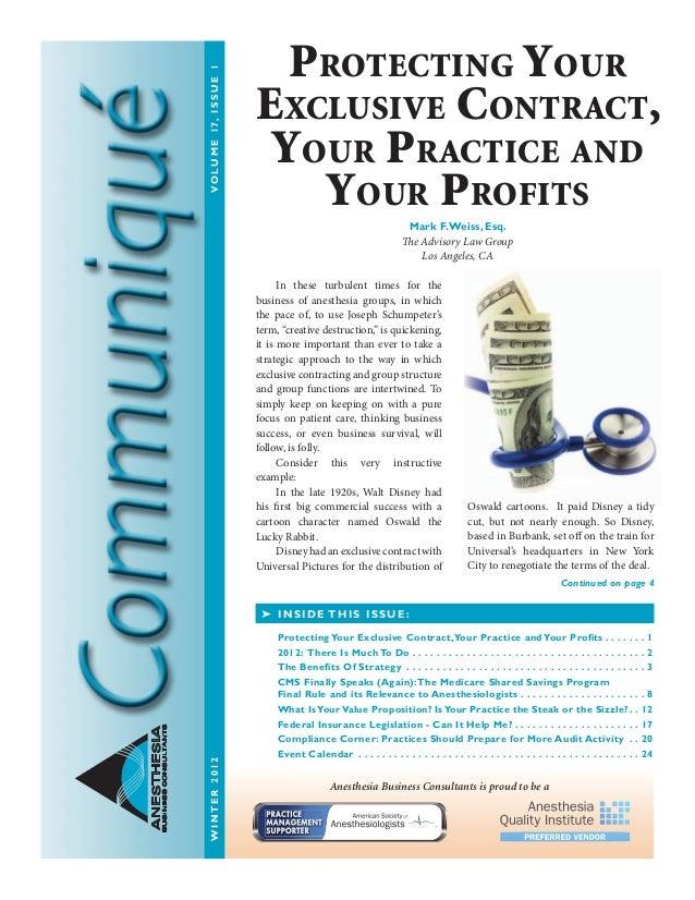 Anesthesia Business Consultants: Communique winter12