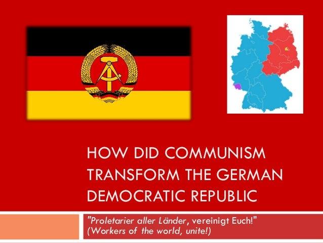 east german vs west german economy