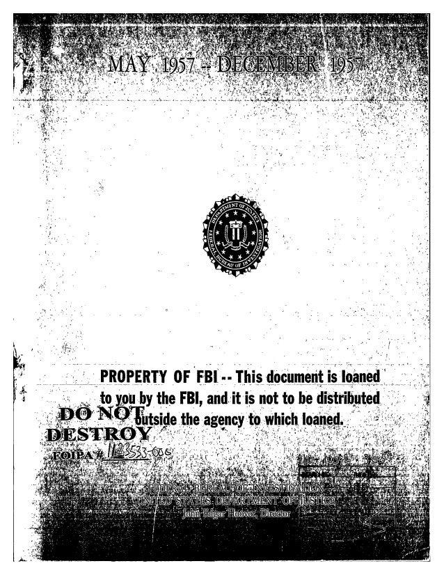 Communist party line   fbi file series in 25 parts - vol. (8)