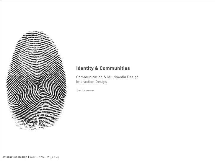 Identity and Communities