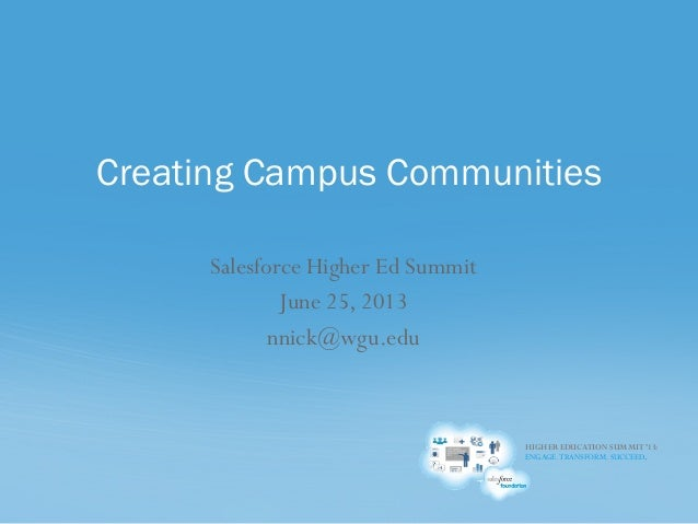 Creating Campus Communities
