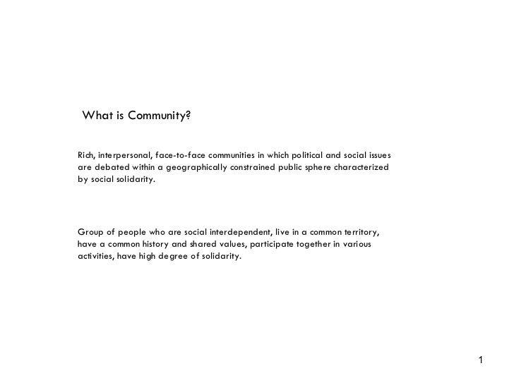Community and American Technology