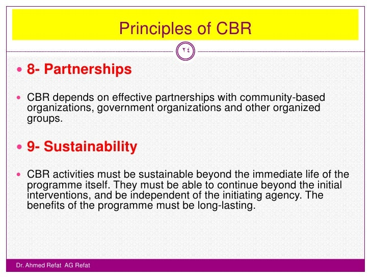 community based rehabilitation essay Community-based rehabilitation (cbr) has grown and evolved over the last  three decades, from being a service delivery approach for persons with  disabilities.