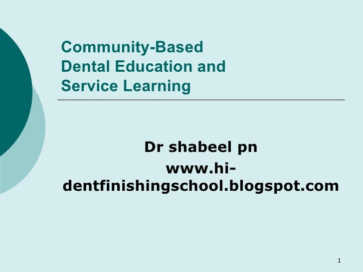 Community Based Learning