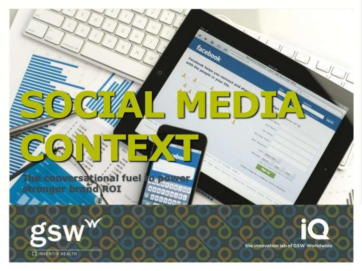 Social Media Context for Pharma