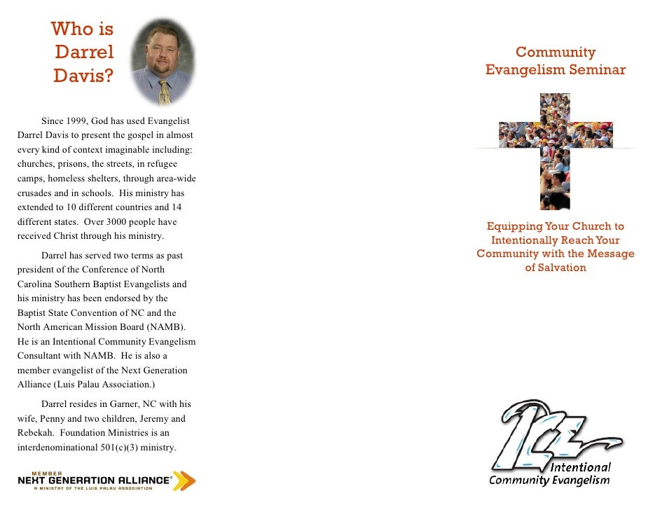 Community Evangelism Seminar