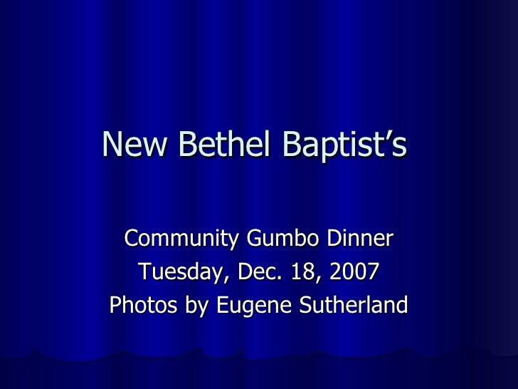 Community Gumbo Dinner