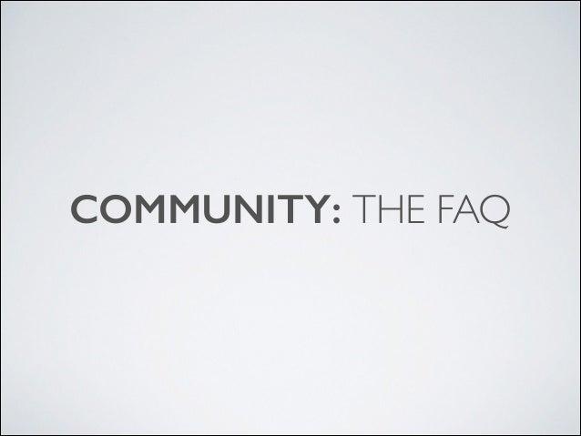 Community keynote