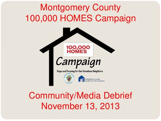 Montgomery County 100,000 HOMES Campaign