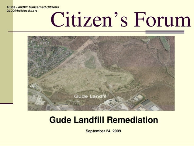 GLCC-DEP Presentation to Derwood Community, Waste Delineation & Nature and Extent Study (9-24-09)