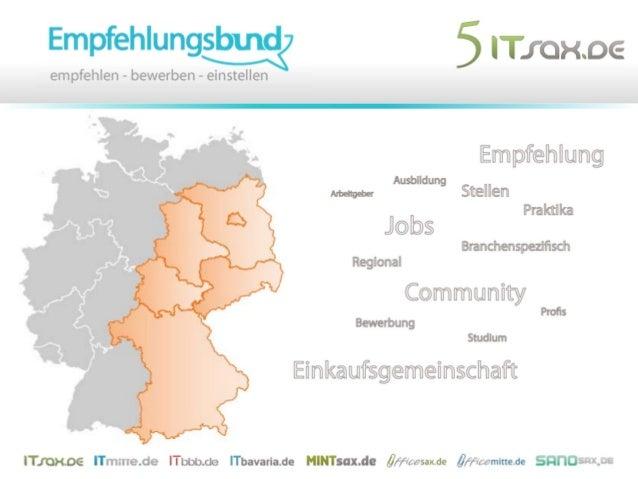 35. COMMUNITY TRAINING (*SAX.DE) 34. COMMUNITY TRAINING (*MITTE.DE) Empfehlungen empfehlen sich